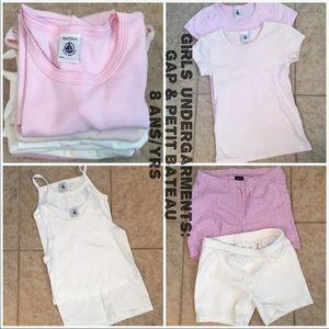 Gap & Petit Bateau Girls' Under Garment Bundle:7-8